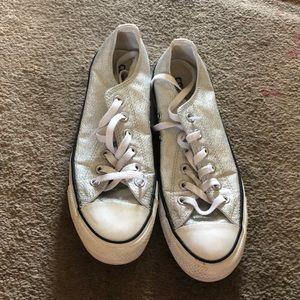 Sparkly Silver Converse